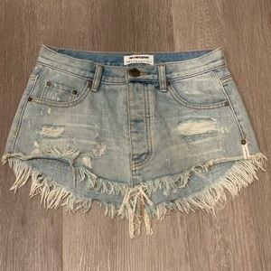 One Teaspoon Junkyard Denim Skirt in Size 23